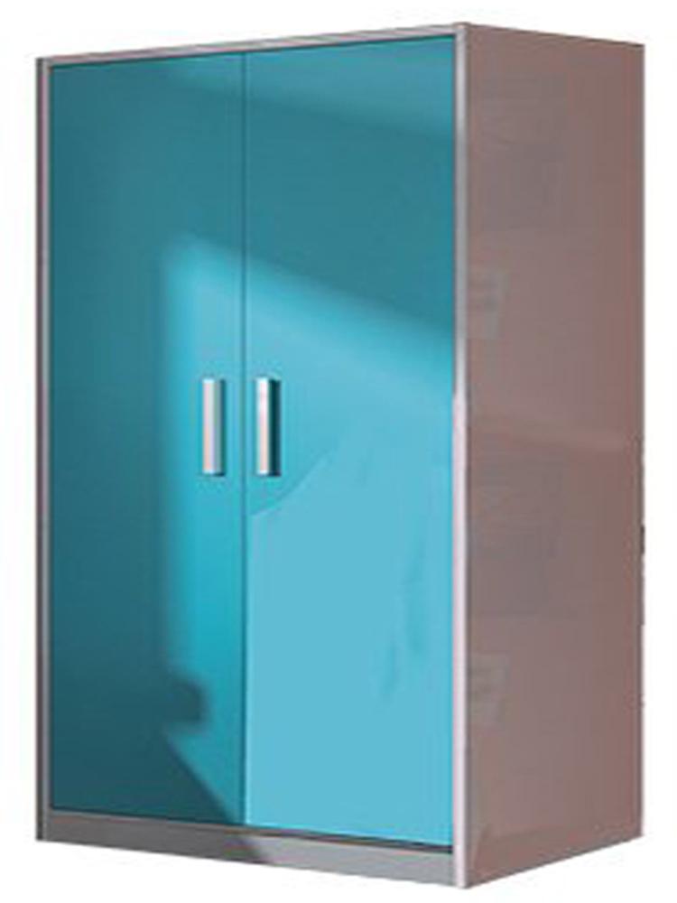 armoire enfant avec 2 portes coloris blanc bleu dim. Black Bedroom Furniture Sets. Home Design Ideas