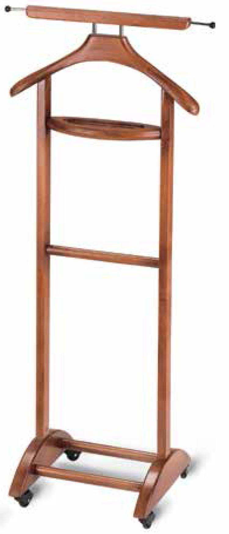 valet de nuit double florence en bois massif merisier dim h110 x p14 x l48 cm ebay. Black Bedroom Furniture Sets. Home Design Ideas