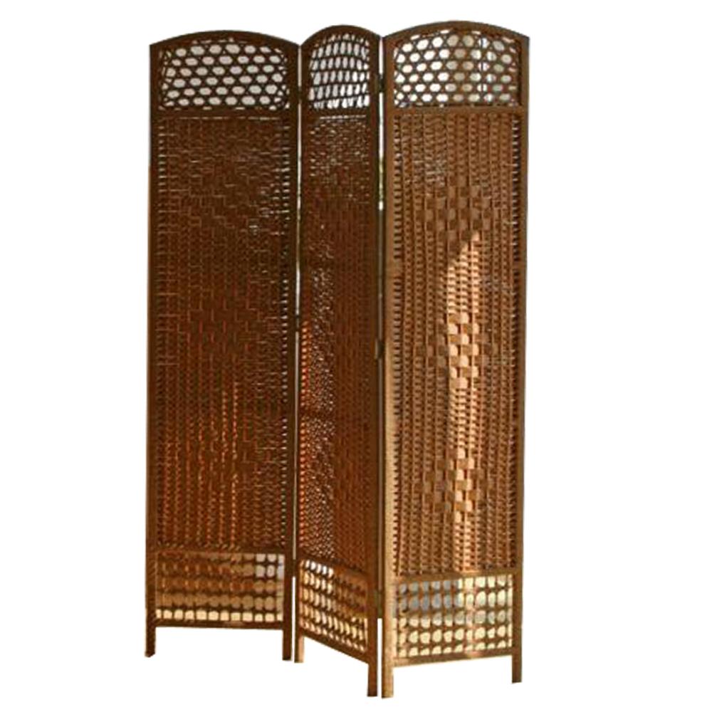 paravent japonais en bois osier brun clair de 3 pans dimensions 170 x 123 cm ebay. Black Bedroom Furniture Sets. Home Design Ideas