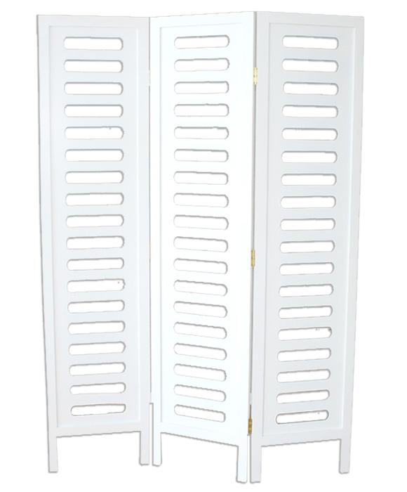 Paravent en bois blanc racks de v tements de 3 pans dimensions 170 x 120 cm - Paravent hauteur 120 ...
